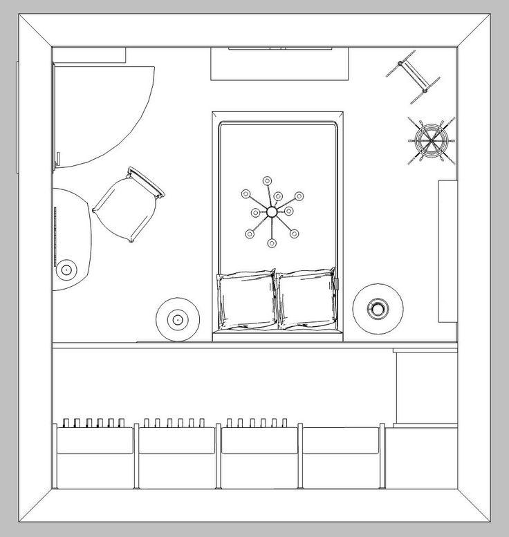 pianta progetto camera con cabina armadio sol-1