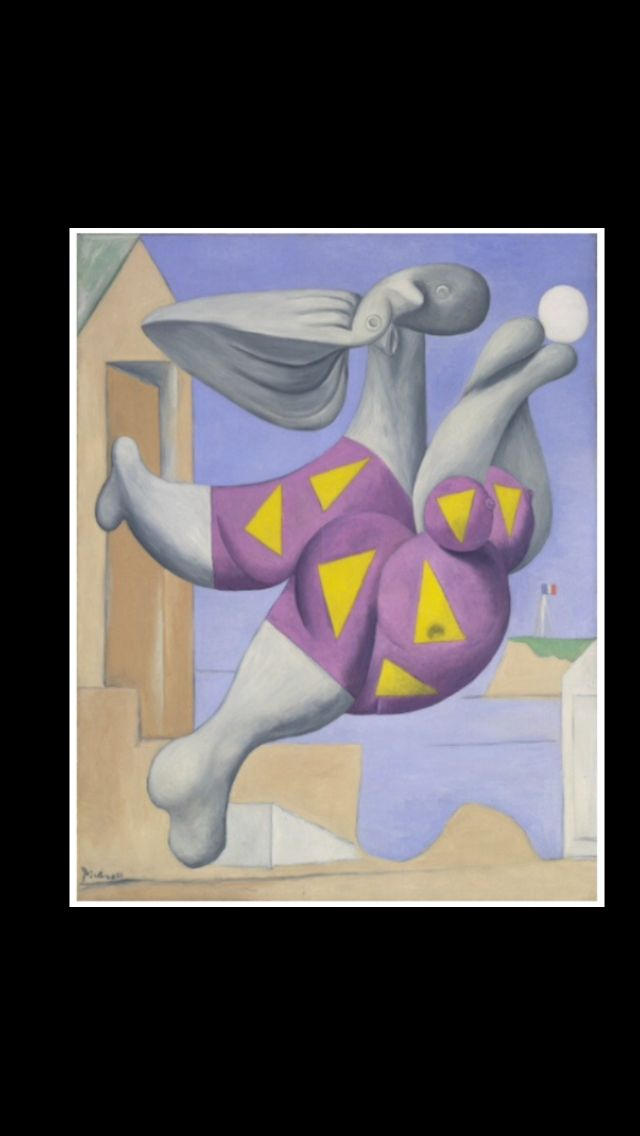 """Pablo Picasso - """" Baigneuse au ballon (Marie-Thérèse) """", Boisgeloup VIII 1932 - Huile sur toile - 146,2 x 114,6 cm - MoMA, New York (..)"""