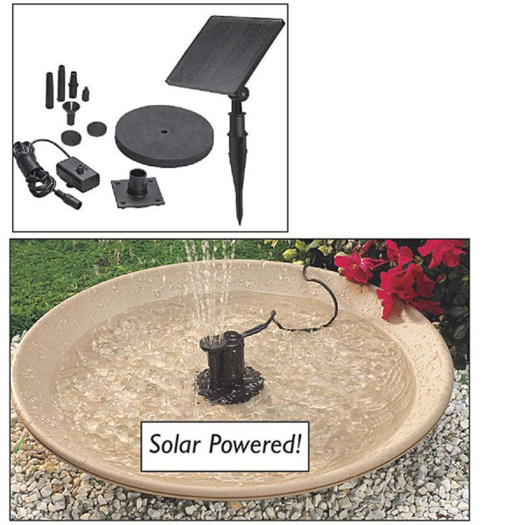 I love fountains! This one is a solar-powered, self-contained system so you could turn any birdbath anywhere in your yard into a fountain.
