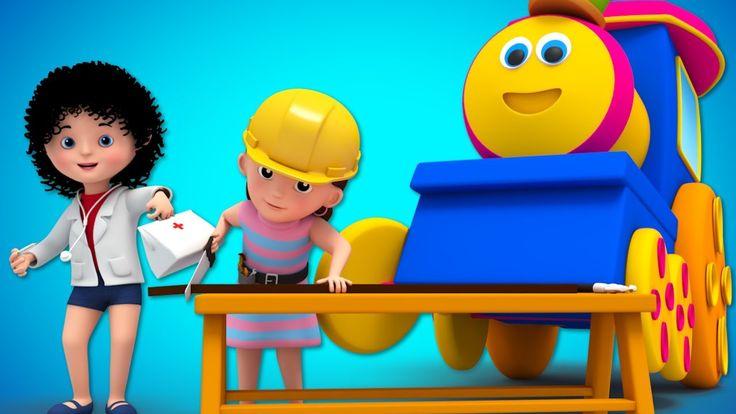 Things That People Do | Original Nursery Rhymes | Baby Songs | Children Rhymes | Bob The Train