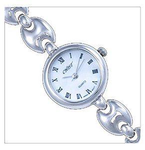 Silver Watch, Round by UK Gems