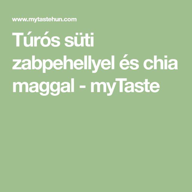Túrós süti zabpehellyel és chia maggal - myTaste