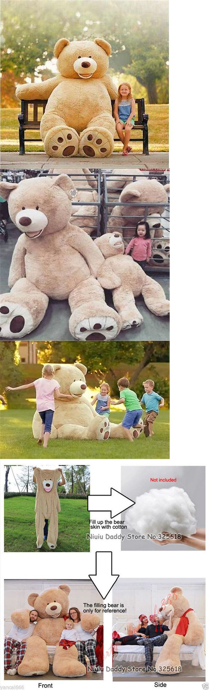 Plush Baby Toys 131084: Giant Teddy Bear Toy American Bear Cover With Zipper Plush Soft Gift 80Cm-340Cm -> BUY IT NOW ONLY: $93.31 on eBay!