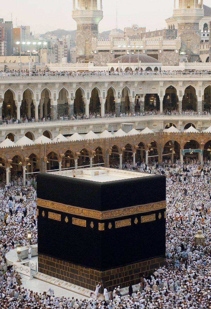 Mekka, de heiligste plaats van de Islam.