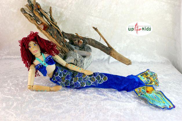 Puppen - Meerjungfrau Ariella Holzpuppe 30cm Gelenkpuppe - ein Designerstück von up4kids bei DaWanda