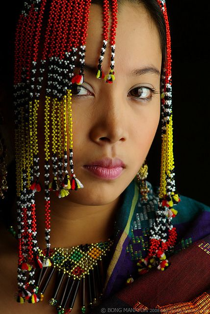 Asia. Southeast Asia. Filipina girl. Yakan woman, a Muslim group from the Philippines