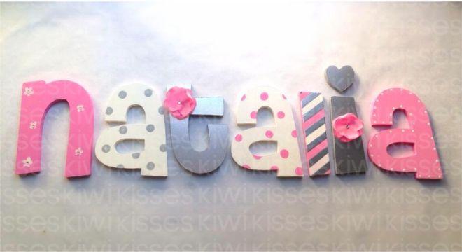 Wood decor letters letras de madera para decorar http - Ideas para decorar letras de madera ...