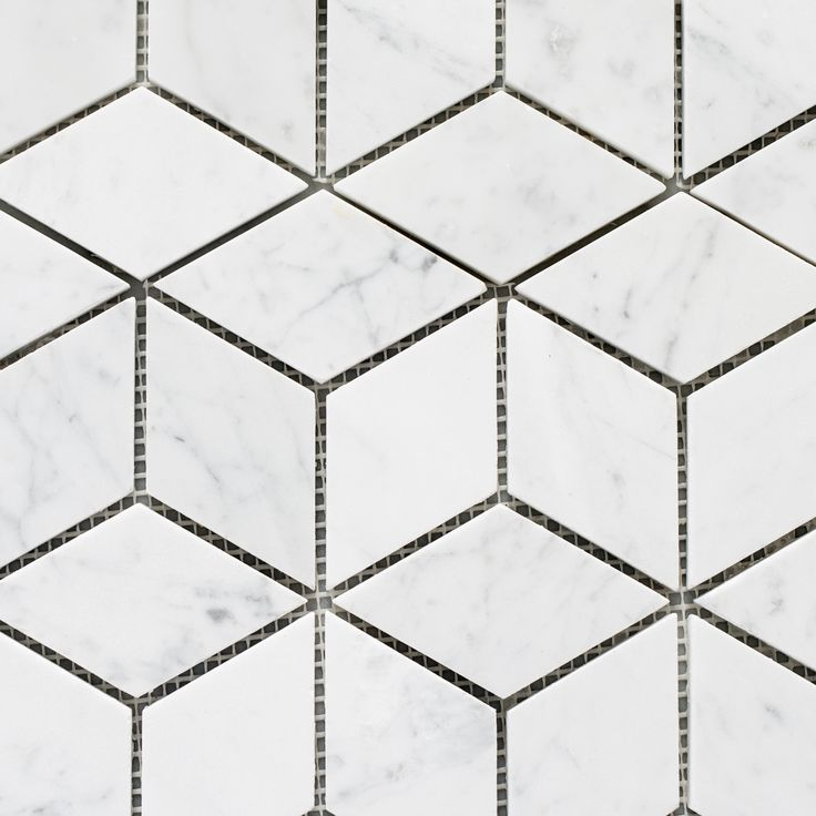 Designer Marble   Carrara Prism Mosaic
