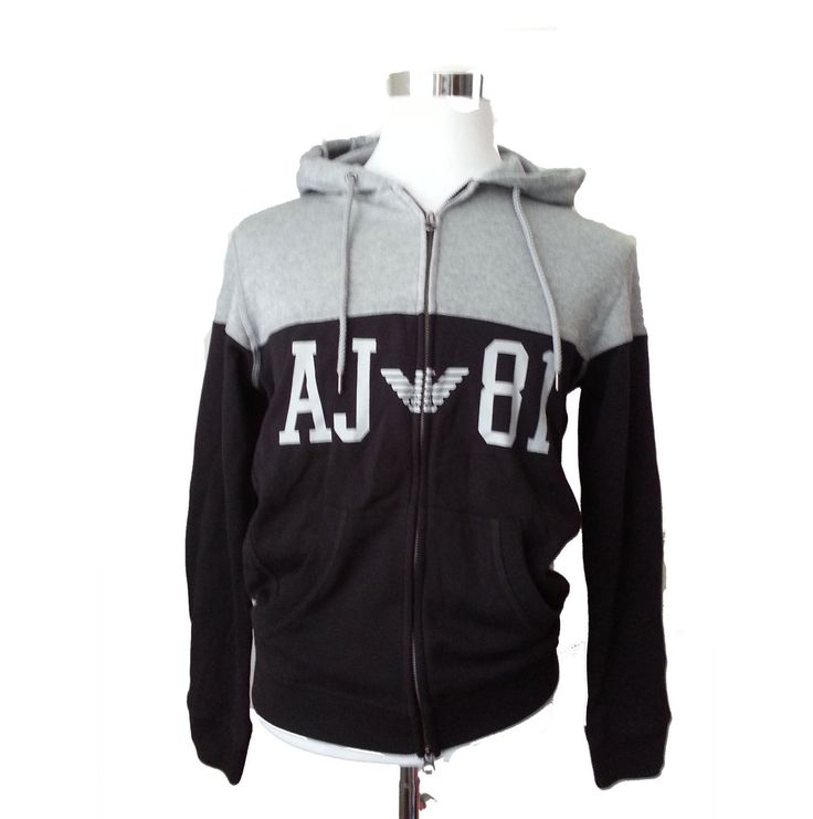 #Armani Jeans Men's Size S Full two way zipper cotton hoodie Comfort fit visit our ebay store at  http://stores.ebay.com/esquirestore