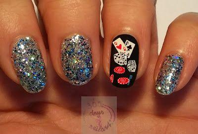 Viva Las Vegas nail art