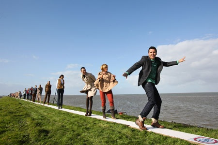 Catwalk at the Afsluitdijk