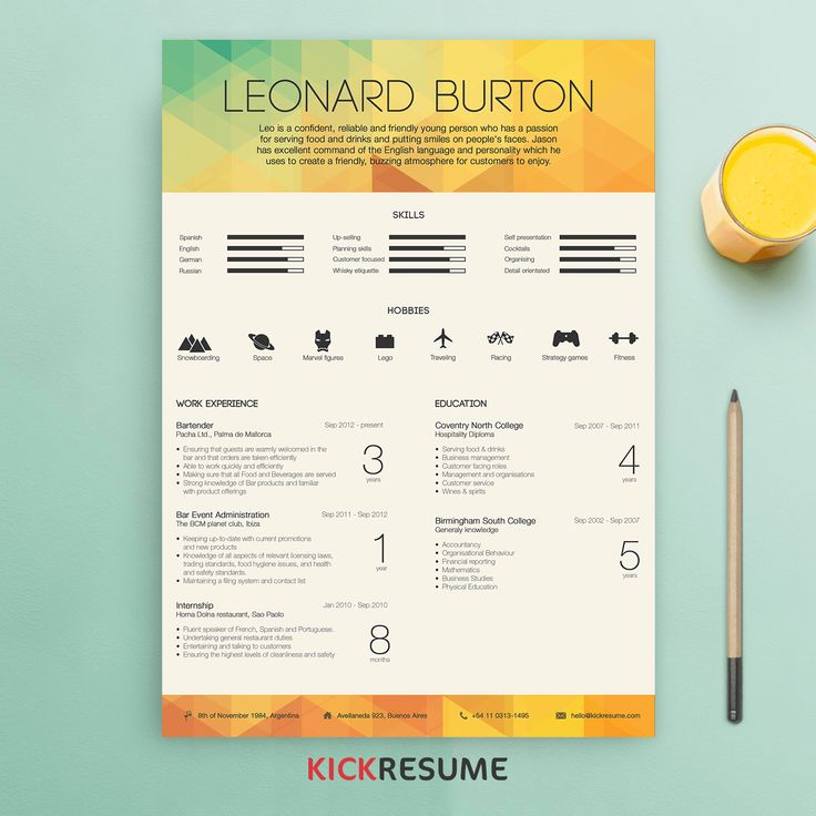 18 best Kickresume Templates Gallery (Resume samples, Resume - hobbies in resume
