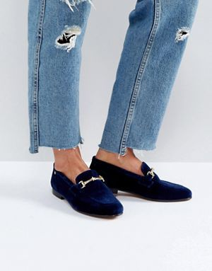 a4dd6a0cc0fa Tommy Hilfiger Velvet Loafer with Star Snaffle