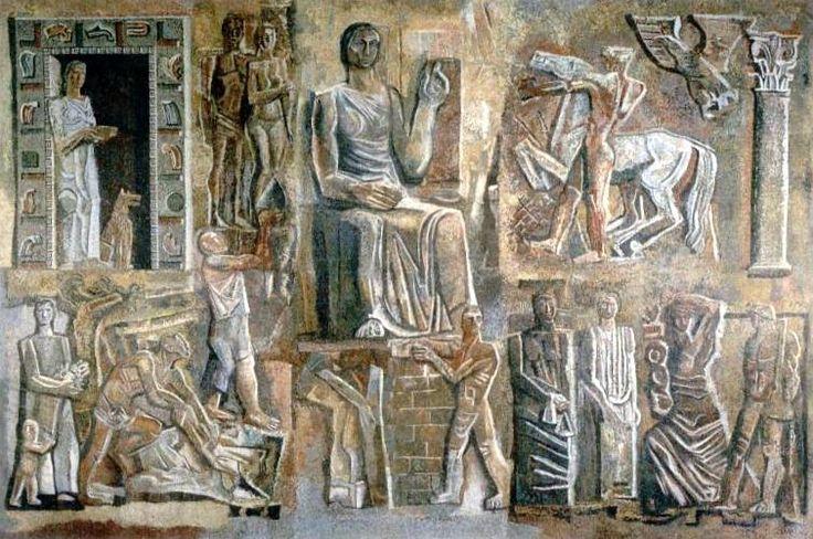 Corporative Italy, 1936-Mario Sironi - by style - Futurism
