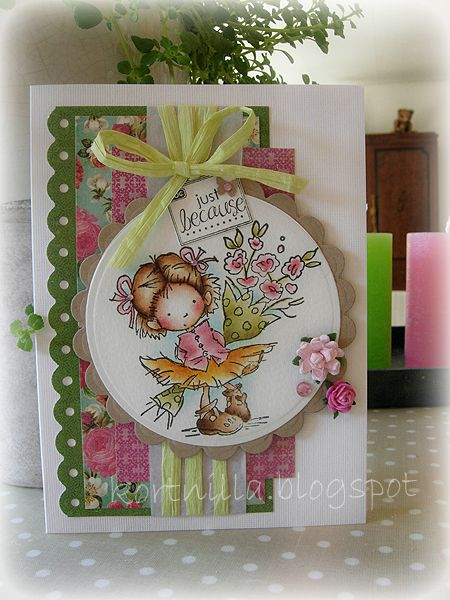 'just because' featuring lili of the valley stamp...she is so cute!