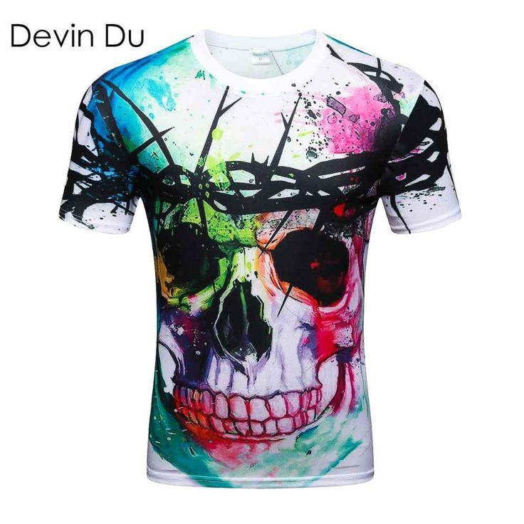 New Fashion T-shirt Hip Hop 3d Print Skulls Harajuku Animation 3d T shirt Summer Cool Tees Tops