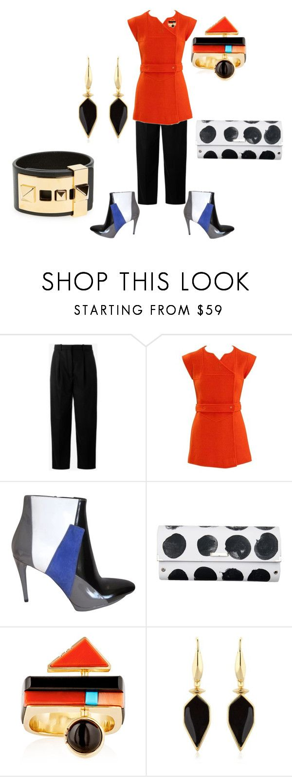 """""""Untitled #5917"""" by billyblaze ❤ liked on Polyvore featuring Acne Studios, Courrèges, Balenciaga, Spanaki, Isabel Marant and Valentino"""