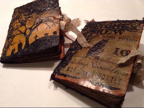 two halloween junk journals and halloween digital printables for junk jo - Youtube Halloween Crafts