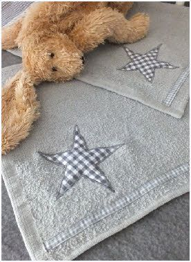 Hand towel for her and for him. Stars.