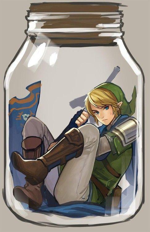 Hyrule Warriors - Link in a bottle