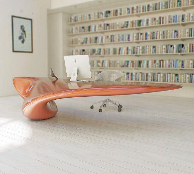 Volna Floor Mounted Table by Nüvist