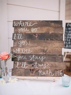 rustic wood pallet wedding sign / http://www.deerpearlflowers.com/30-rustic-wedding-signs-ideas-for-weddings/2/