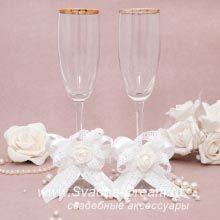 Украшения для свадебных бокалов молодых жениха и невесты, оформление бокалов на свадьбу для молодоженов