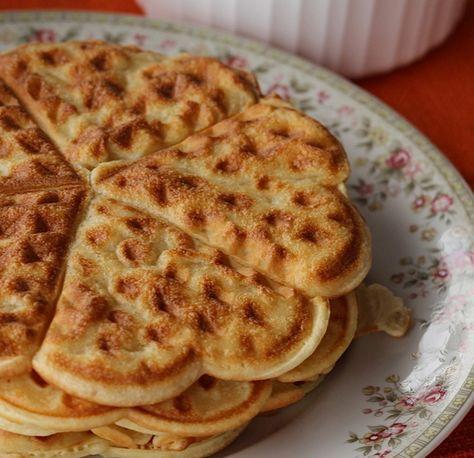 Waffles sem gluten e sem lactose