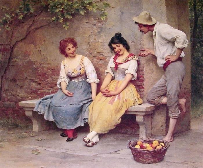 Pinturas de De Blaas EL COQUETEO