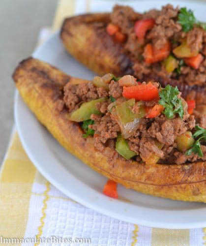 Stuffed Baked Plantains