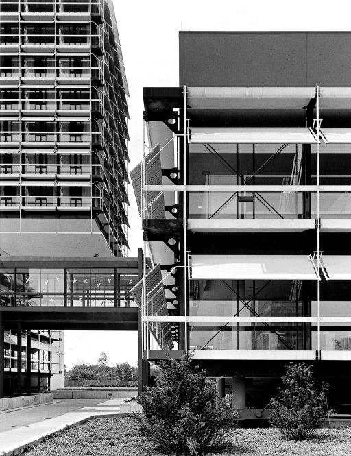 onsomething:  onsomething  Egon Eiermann   Administration and training center of Olivetti, 1968-72 Frankfurt. Photo byKlaus Kinold
