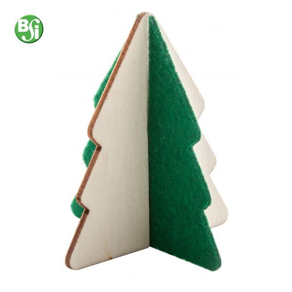Mini albero di Natale in legno e feltro.  #gadget #natale #alberodinatale #bsigadget #gadgetpersonalizzati #christmas