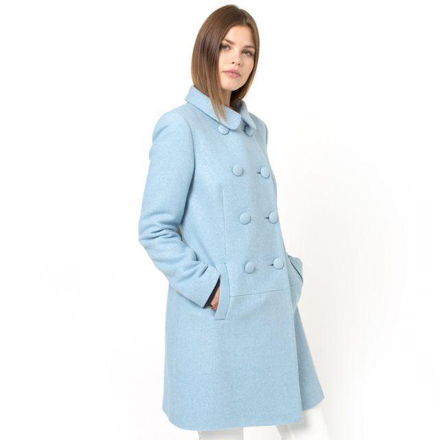 Płaszcz tweedowy MADEMOISELLE R (NIEBIESKI)