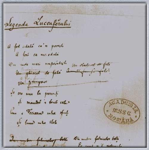 O ciornă a Luceafărului scrisă de Mihai Eminescu în 1882. - PeTeava.ro