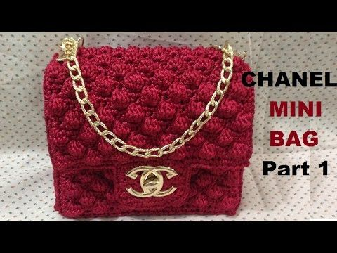 How to crochet CHANEL Mini Bag Part 1 - Hướng dẫn móc túi Chanel mini P1 - YouTube