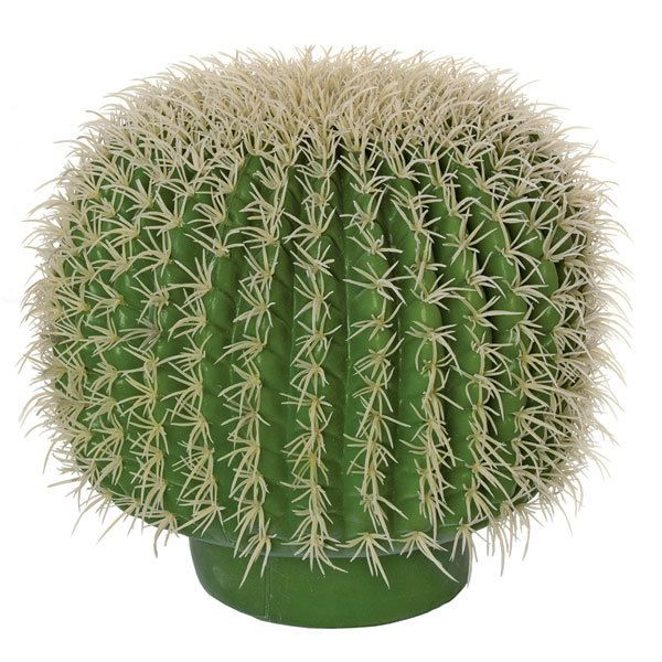 """** ARTIFICIAL CACTUS **  12"""" Plastic Barrel Cactus with Light Needles  Natural Touch 12.5"""" Width, 12"""" Height Bare Stem  ITEM#A650 email for price/minimum: sales @ displayit-info.com"""