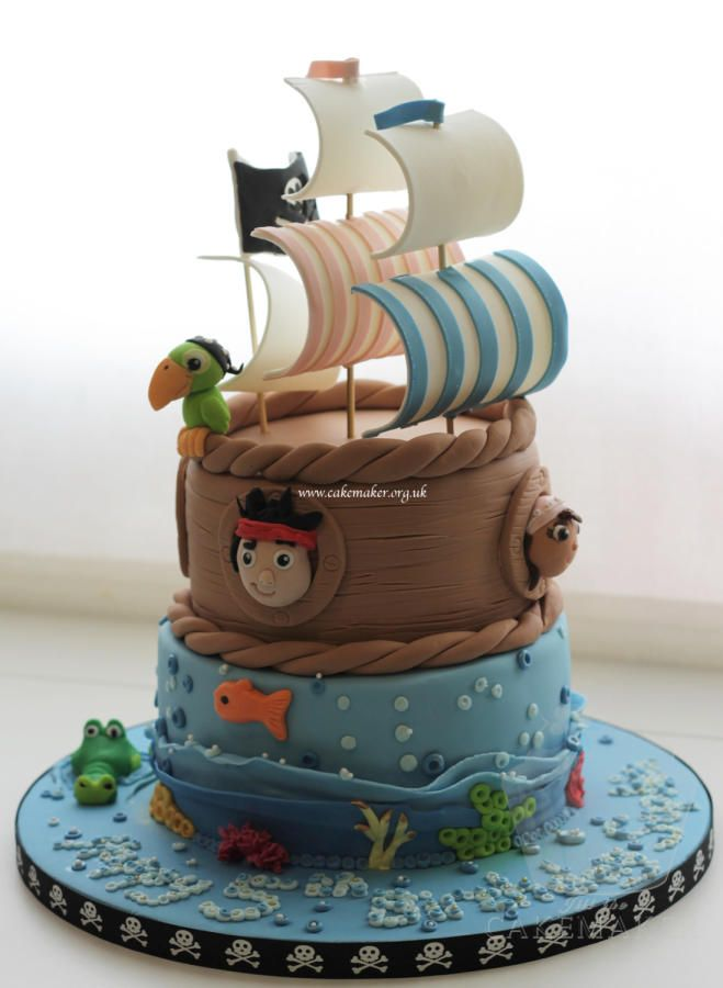 Jake and the Neverland Pirates cake - For all your cake decorating supplies, please visit craftcompany.co.uk