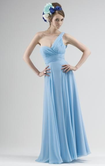 Colour: Blue  Fabric: Chiffon  Built-in Bra: Yes  Fully Lined: Yes  Made-To-Order: Yes