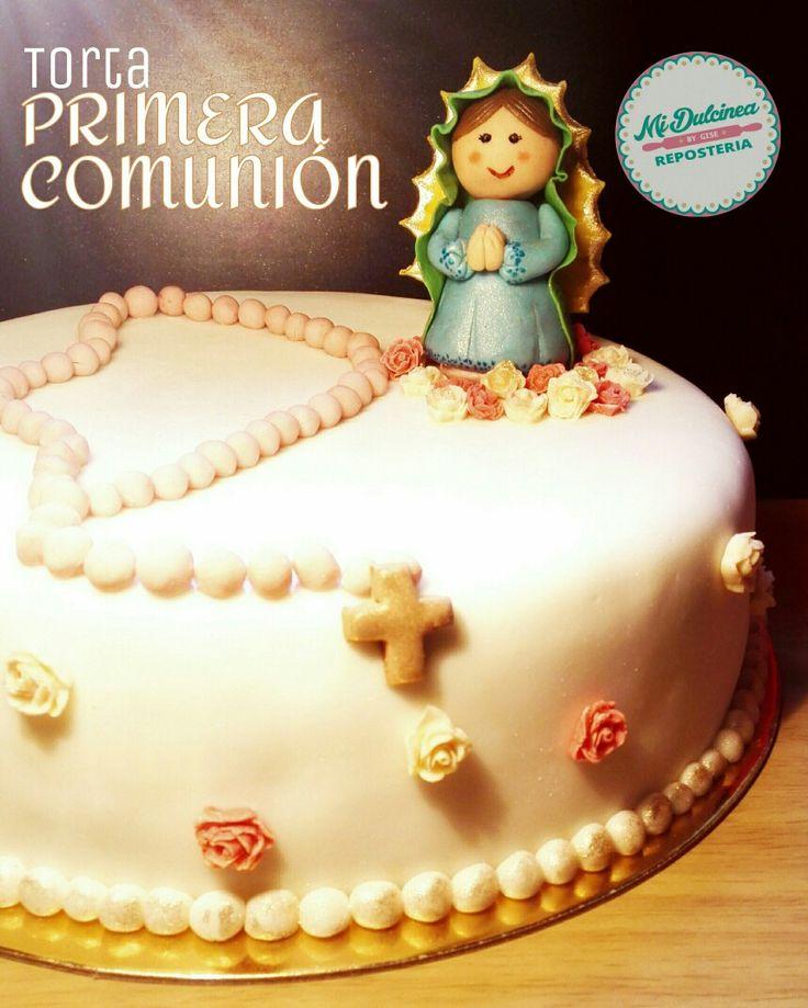 Torta primera comunión niña