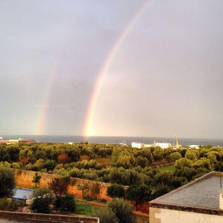 Sun & rainbow