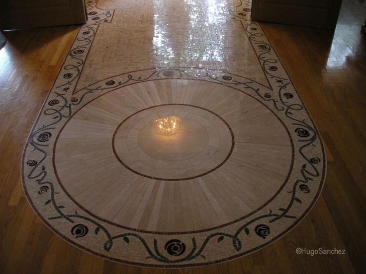 Roman style marble mosaic | Céramiques Hugo Sanchez Inc