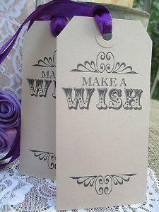 10 Make s Wish Wedding Favour Tag Kraft Brown Luggage Label