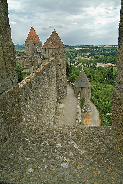 """Carcassonne, France - medieval castle-The history of Carcassonne is particularly bound to a period of the Middle-Ages, often called """"the Crusade of the Albigenses"""". This name comes from the city of Albi, about 100 km north of Carcassonne."""