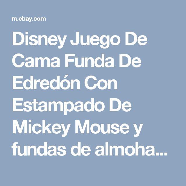 Disney Juego De Cama Funda De Edredón Con Estampado De Mickey Mouse y fundas de almohada Conjunto de 3 piezas   eBay