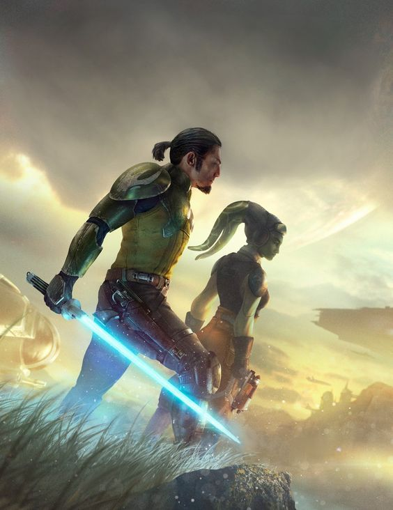 Awesome artwork! Kanan and Hera, Star Wars Rebels #StarWars #TechFeelings #RIPSolo