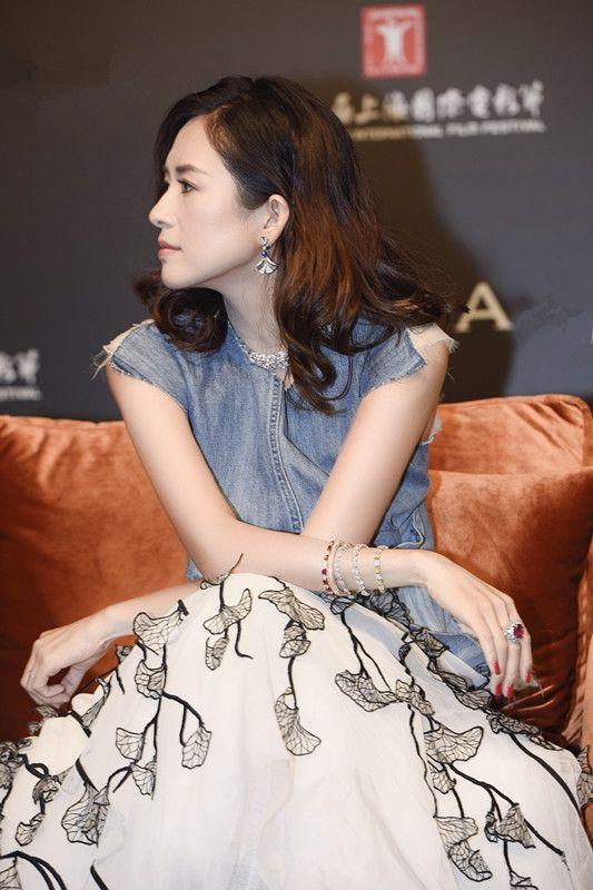 Maticevski AW17 Castaway Tank & Aromatic Full Skirt worn by Zhang Ziyi | tonimaticevski.com    20th Shanghai International Film Festival