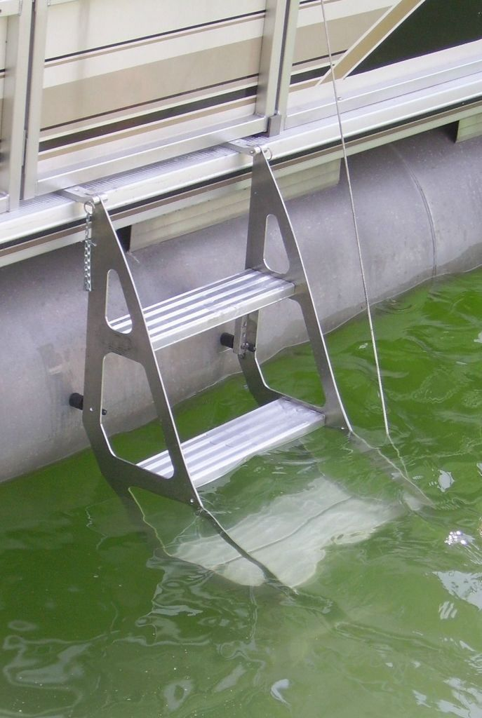 Tooner II Pontoon Retractable Ladder | Pontoon & Deck Boat Magazine