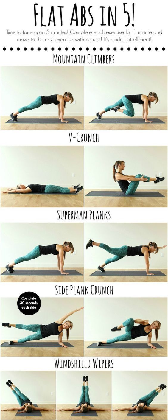 7 Workouts for When You're Feeling Lazy - get fit by trying mountain climbers, v crunches, superman planks, windshield wipers & more