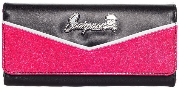 Peněženka Sourpuss - růžová/černá