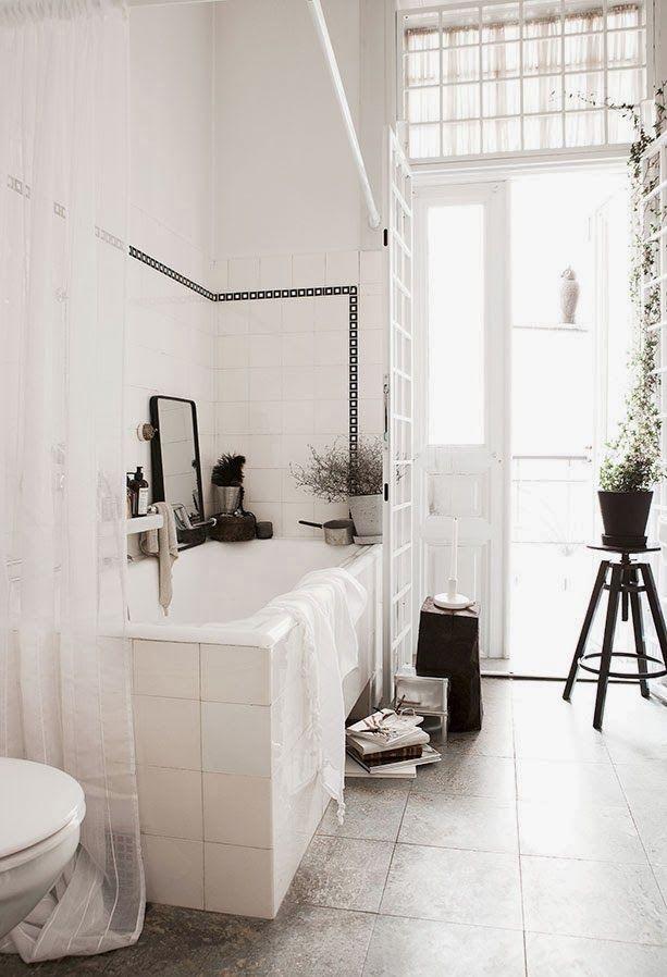A romantic old school bathroom with a modern twist